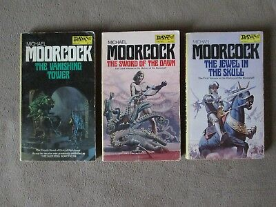 Lot of 3 MICHAEL MOORCOCK Science Fiction Paperbacks, DAW First Printings