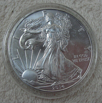 2015 1oz Silver American Eagle BU in capsule