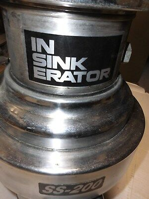 Insinkerator SS 200 - 29 Commercial Garbage Disposal 2 H.P. FREE SHIPPING