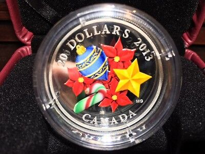 2013 Canada $20 Fine Silver Holiday Candy Cane Coin
