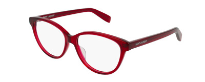 Saint Laurent  SL 171 003 Eyeglasses Havana Burgundy Cat Eye Frame 54mm