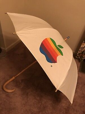 Apple Computer Original Rainbow Logo Umbrella  --- Very Rare