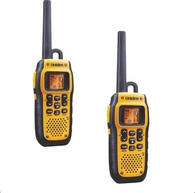 Uniden Mhs050-2 Submersible Vhf Marine Radio+New+Wty 2 H/sets+Boat+Waterproof