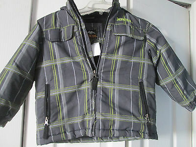 Pacific Trail Gray Plaid Snow Ski Parka Children's Size 4