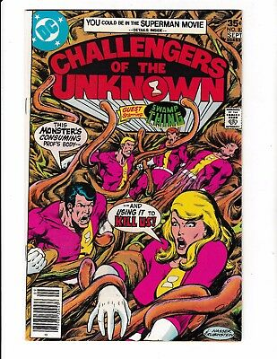 CHALLENGERS OF THE UNKNOWN #82 (VF+) 1st SWAMP THING Appearance in Title! 1977