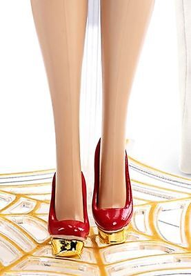 New 2016 Charlotte Olympia Barbie Doll  Red & Gold  High Heel Shoes