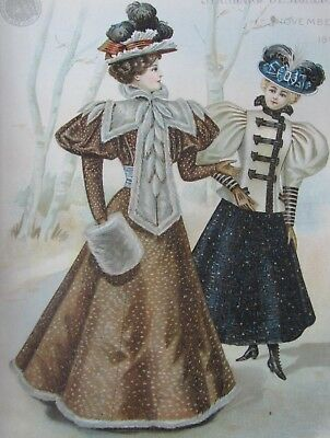 1896 VICTORIAN Fashion Catalog Pattern Book~ Dresses Hats Tea Gowns Cloaks Rare!