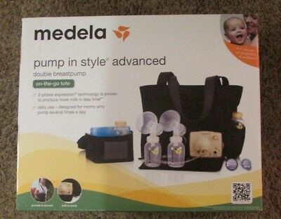 Medela Pump in Style Advanced Double Electric Breastpump On-the-Go Tote new/READ