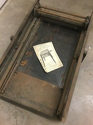 Fremont Proofing And Printing Press Antique 1930's Old