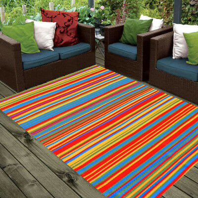 **ECO-FRIENDLY** Indoor/Outdoor Rug - Chatai 100006 - Multi - 120x180 - RRP $95
