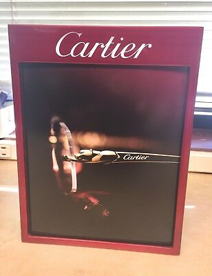 """CARTIER sunglasses reversible DISPLAY / PICTURE FRAME 5 3/4"""" x 7"""" RED"""