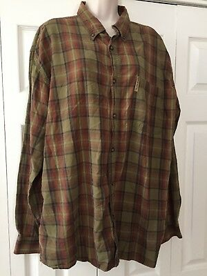 Nice Mens North River Long Sleeve Button Down!! Size XL Plaid