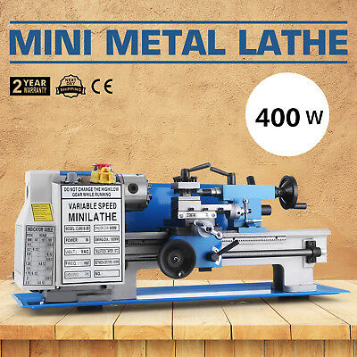 "7""x12"" Mini Metal Lathe Metalworking Woodworking Metal Gears Bench Top Milling"