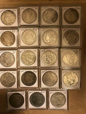 ESTATE FIND - Mix Lot of 19 Morgan And Peace Dollars
