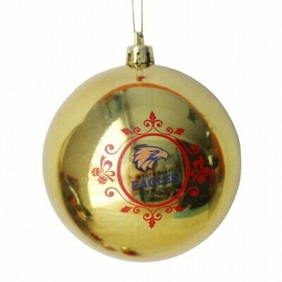 West Coast Eagles Official AFL Christmas Tree Bauble Pk 6 FREE POST