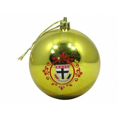 St Kilda Saints Official AFL Christmas Tree Bauble Pk 6 FREE POST
