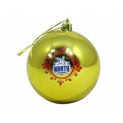 Nth Melbourne Kangas Official AFL Christmas Tree Bauble Pk 6 FREE POST