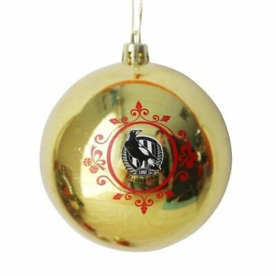 Collingwood Magpies Official AFL Christmas Tree Bauble Pk 6 FREE POST