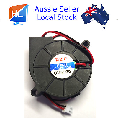 Cooling Blower Fan 2 pin 5015S 0.14A 50x15mm DC12V LYF - Aussie Seller