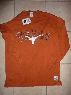 "Victorias Secret Pink Bling Texas ""long Horns"" Teeshirt Nwt"