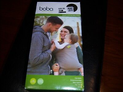 Boba Baby Wrap Carrier 0-36 Months 7-35lbs Black Brand New