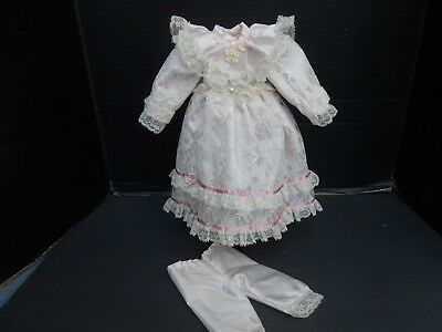 """DRESS for BRU, BISQUE, ANTIQUE REPRODUCTION FRENCH or ARTIST DOLL - 21-22"""""""