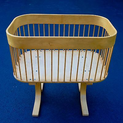 Baby Cradle/Crib/Bassinet/Doll Bed In Mid-Century Danish/Scandinavian Style
