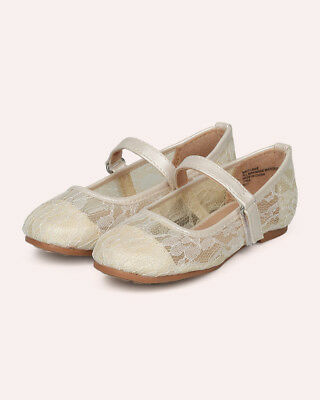 c65a46025108 New Girl Little Angel Britt-964D Lace Mesh Capped Toe Mary Jane Ballet Flat
