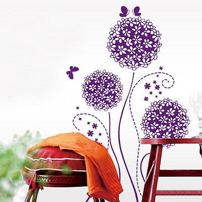 New Flower Decal Decor DIY Art Home Room Removable Vinyl Mural Wall Stickers 04