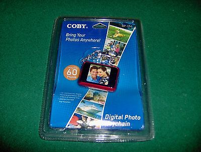 "Coby RED LCD DP-151 1.5"" Digital Photo Picture Keychain up to 60 pictures! NEW"