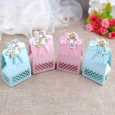 12PCS Baby Shower Favor Box Baptism Birthday Party Candy Boxes Christening Gift