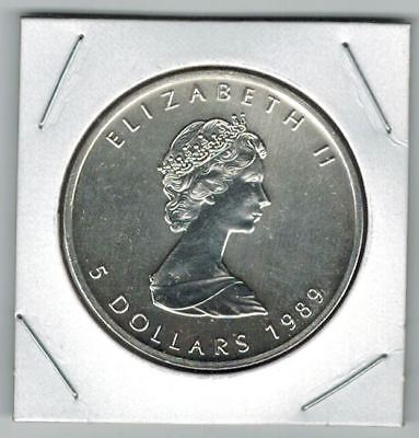 1989 Canada $5 Silver 1OZ Pure .999 Maple Leaf