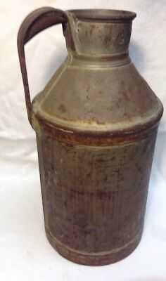 """Antique Milk Jug 16.5"""" Steel Registered Can FREE SHIPPING"""