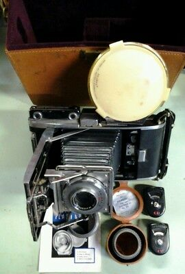Vintage Polaroid Pathfinder Land Camera Model 110 B with Case, Manual & Extras