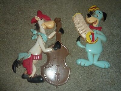 2 1978 HOMCO Huckleberry Hound Quickdraw McGraw Wall plaques lot