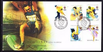 Malaysia 2001 -  XX1 South East Asia  Games First Day Cover