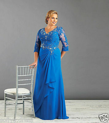 2018 New  Lace Evening Wedding Party Dress Custom Plus Size Mother of the Bride