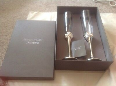 2 Monique Lhuillier champagne flutes. Waterford Perfect Christmas Gift