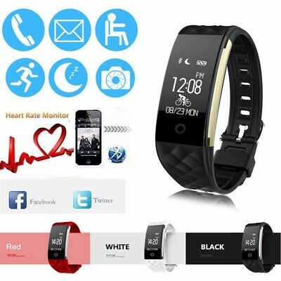 Waterproof Heart Rate GPS Smart Wristband Watch Bracelet Sport Fitness Tracker A