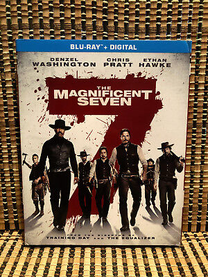 The Magnificent Seven (Blu-ray, 2016)+Embossed Slipcover.Western Remake.