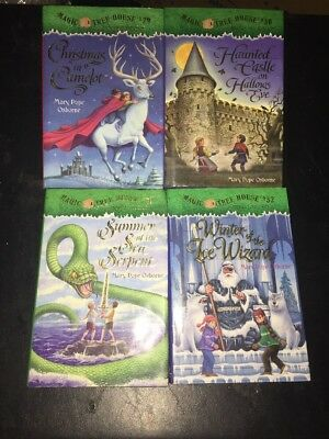Lot of 4 29-32 Magic Tree House Hardcover