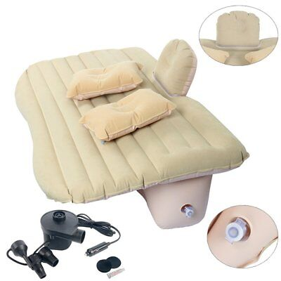 Auto Car Inflatable AirBed Mattress with 2 Pillows for Back Seat of Cars Travel