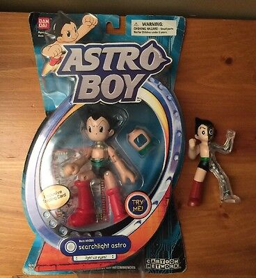 "Astro Boy Searchlight Astro #14301 With Trading Card BAN-DAI 2004 +4"" Figurine"