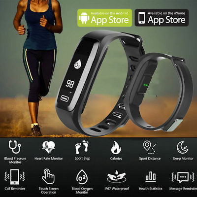 UK Fitness Sport Smart Watch Blood Pressure Heart Rate Fitness Activity Tracker