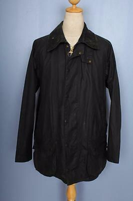 BARBOUR Beaufort WAXED Jacket Navy Size 42