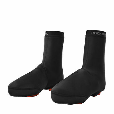 RockBros Cycling Shoe Covers Warm Windproof Waterproof Protector Overshoes Black