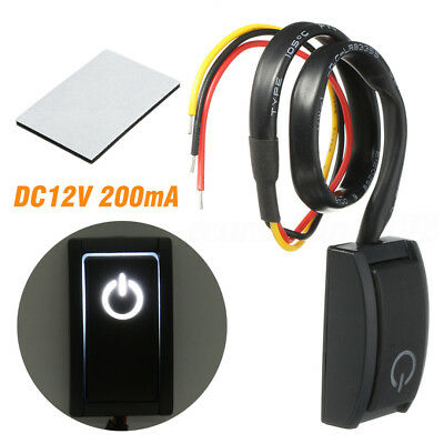 DC12V/200mA Car Push Button Latching Turn ON/OFF Switch LED Light RV Truck BLACK