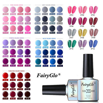 FairyGlo UV LED Gel Nail Polish Soak off DIY Manicure Grey/Nude/Red/Color Series