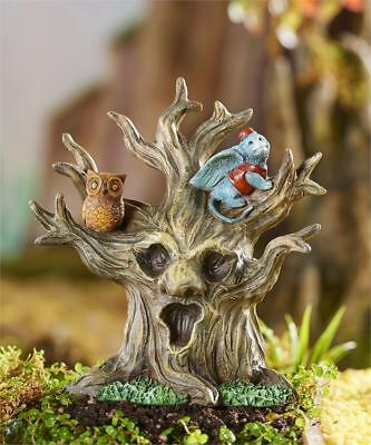 Miniature Dollhouse FAIRY GARDEN ~ WIZARD of OZ Haunted Tree w Flying Monkey NEW