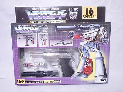 Transformers 16S Destron Megatron G1 Figures Dolls Takara Reissue Factory Sealed